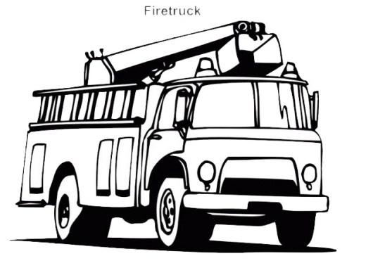 strong firetruck coloring sheet