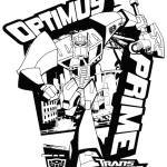 the leader of autobots optimus prime coloring pages transformers printable