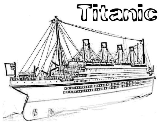 titanic coloring printable pages