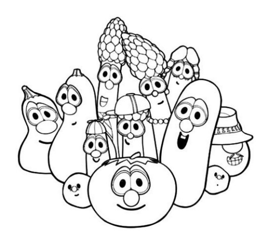 veggie tales coloring picture for kids