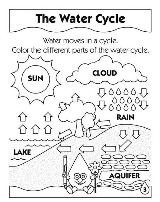 water moves in a cycle coloring sheet