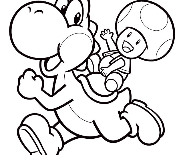 Yoshi Coloring Pages With  Pictures Coloring Pages