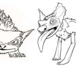 Bearowl and Liyote from the Croods Coloring Picture