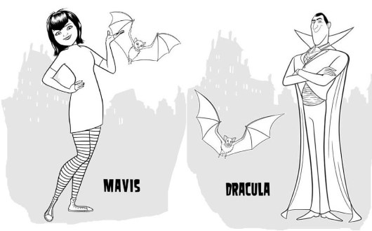 Mavis and Dracula Coloring Picture