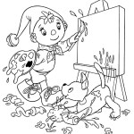 Noddy painting coloring pictures