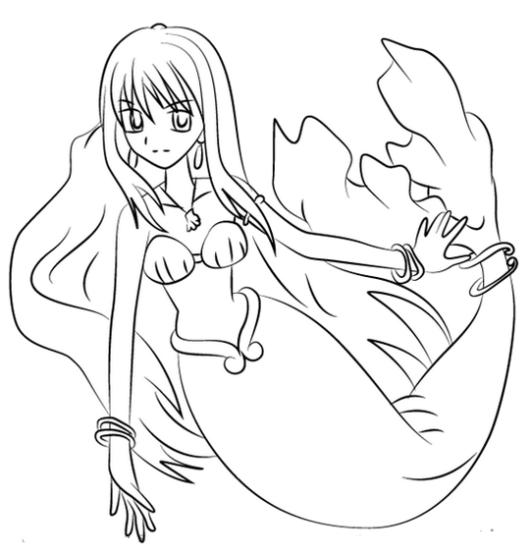 Rina Toin in Mermaid Melody Coloring Sheet