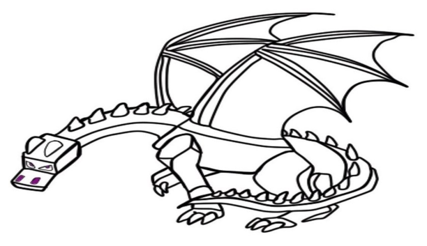 minecraft ender dragon coloring pages sketch coloring page