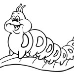 chubby and funny caterpillar coloring picture