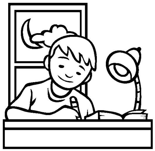 finsih homework perfectly coloring page