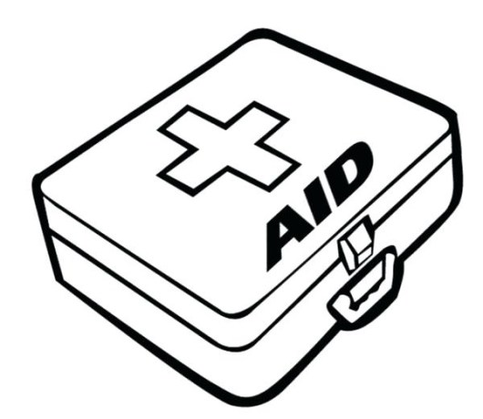 first aid box coloring pages medical tools line art for kids