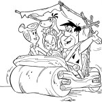 flintstones character coloring picture for children