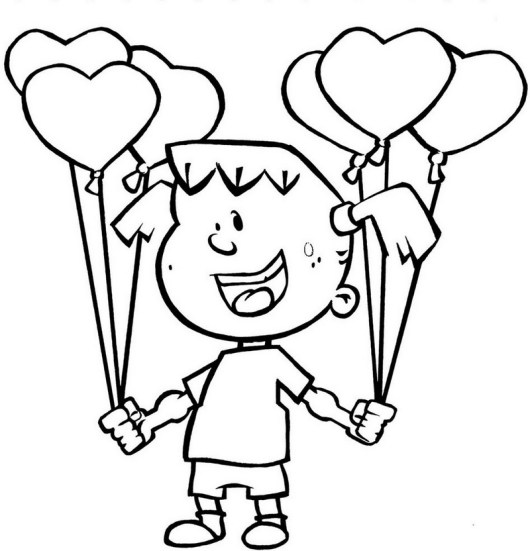 girl holding balloons in two hands