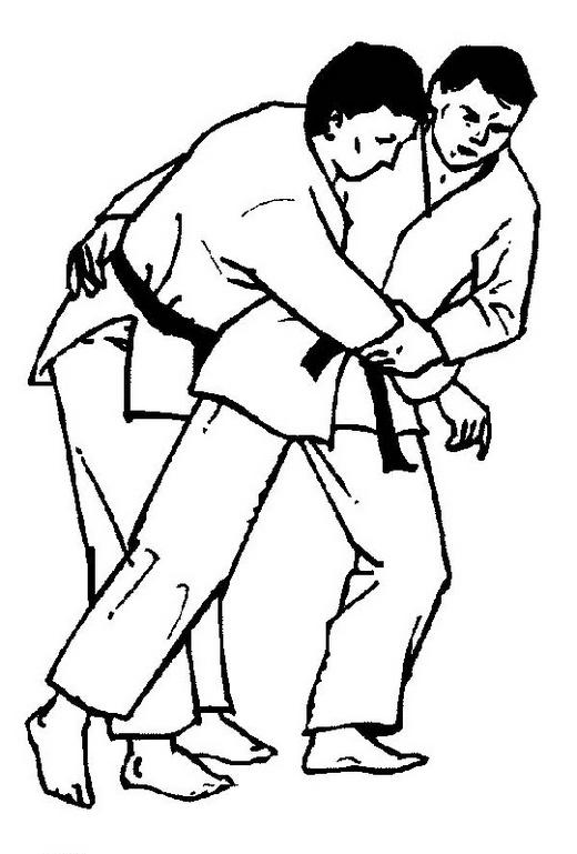karate battle champions coloring sheet