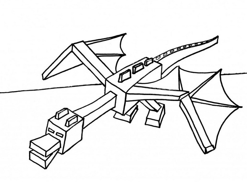 lego minecraft ender dragon coloring pictures