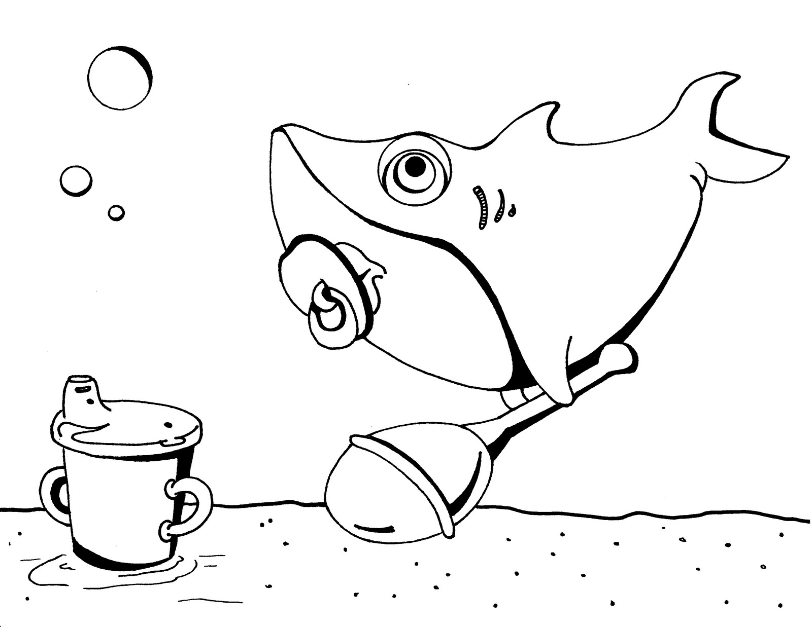 pinkfong baby shark coloring sheet for kids