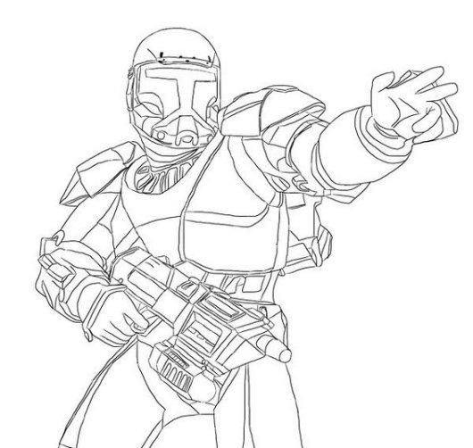 republic grand army clone trooper coloring sheet