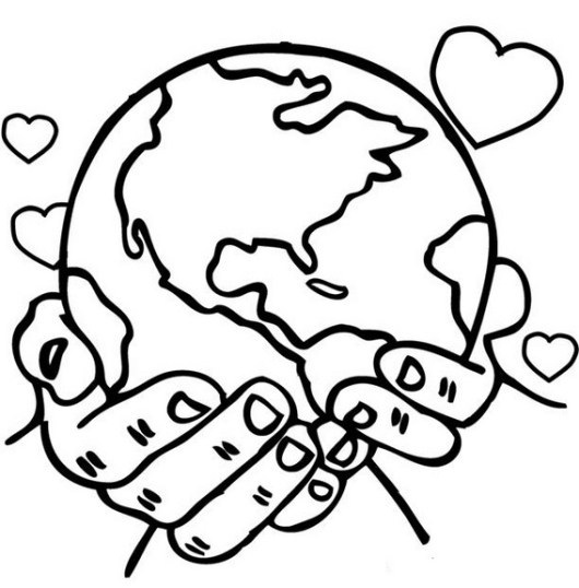 coloring pages for elementary school | High-detailed Maps of the World Coloring Pages for ...