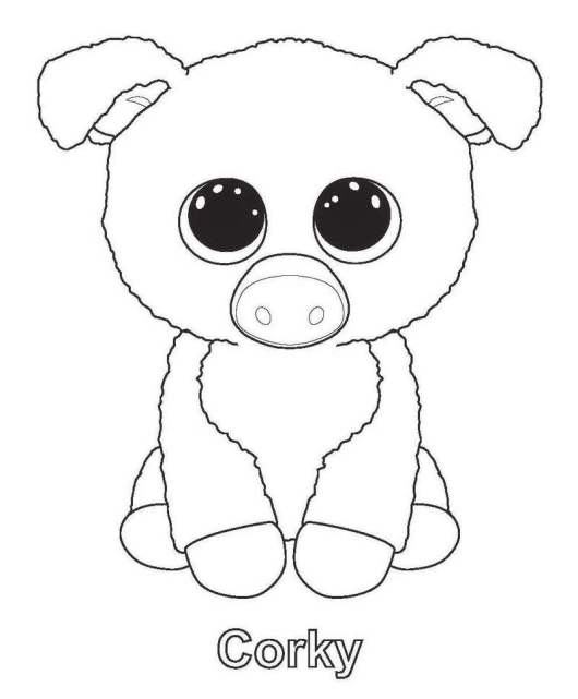 Corky from beanie boo coloring sheet