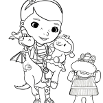 Cute Doc Mcstuffins Coloring Page