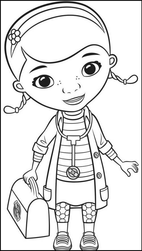 Dottie doc mcstuffins coloring sheet online