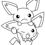 Electric Pichu Coloring Picture