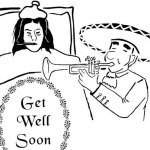 Entertaining patient Get Well Soon Coloring Sheet