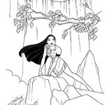 Princess Moana Waterfall Coloring Page