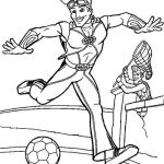 Sportacus from Lazy Town coloring sheet for 4 years and up