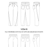 Trousers fashion drawing sheet