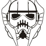 amazing grievous stormtrooper helmet star wars coloring sheet