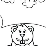 awesome groundhog coloring pages for kids