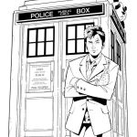best doctor who coloring lineart sheet