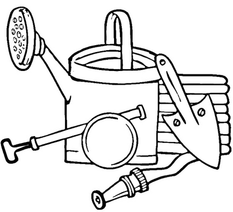 6 Best Gardening Tools Coloring Pages For Children