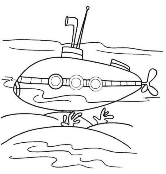 best submarine coloring pictures