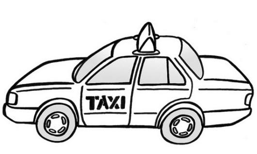 best taxi car coloring sheet
