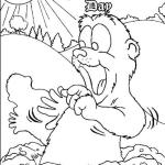 epic groundhog day coloring page for small children