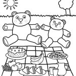 epic teddy bear picnic coloring page for kids