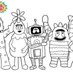 friendly toy monsters yo gabba gabba coloring pages