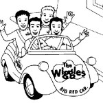 fun wiggles in the car coloring page