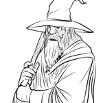 gandalf from Lord of the Ring LOTR coloring page