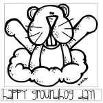happy groundhog day coloring picture