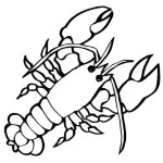 large marine crustaceans lobster coloring pages for small children