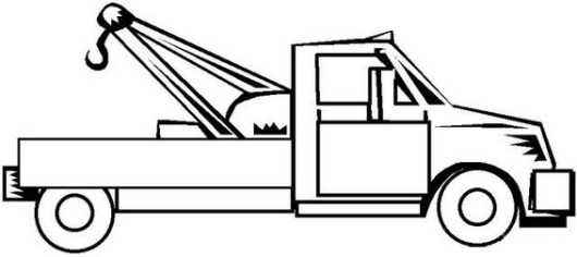 perfect tow truck coloring page for kids