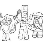 yo gabba gabba american television show coloring sheet