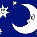 Best Moon Crescent and Stars Coloring Page