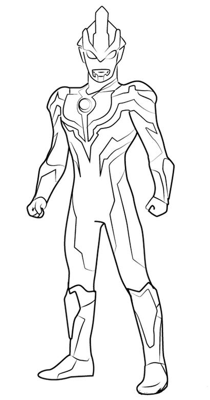 Epic Ultraman Ginga Coloring Sheet