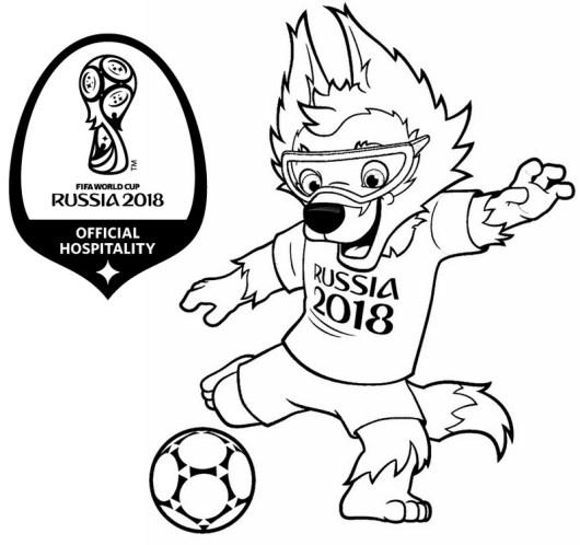 Zabivaka Mascot World Cup Russia 2018 Coloring Page