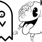 Pacman Ghost Zone Coloring Page Online