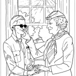 Perfect Helen Keller Coloring Page Illustration