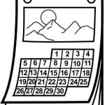 Perfect Wall Calendar Coloring Page